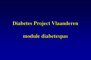 Diabetes Project Vlaanderen module diabetespas