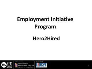 Employment Initiative Program