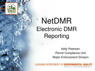 NetDMR Electronic DMR Reporting