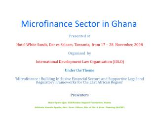 Microfinance Sector in Ghana