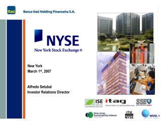 Alfredo Setubal Investor Relations Director