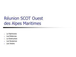 Réunion SCOT Ouest des Alpes Maritimes