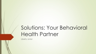 Cognitive-Behavioral Therapy   . .