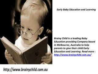 Early Baby Education and Learning