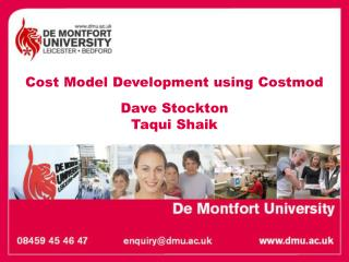 Cost Model Development using Costmod Dave Stockton  Taqui Shaik