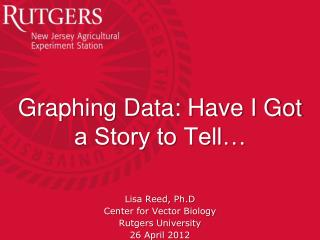 Graphing Data: Have I Got a Story to Tell…