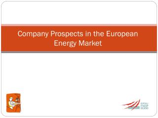 Company  Prospects in the  European Energy Market