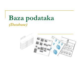 Baza podataka (Database)