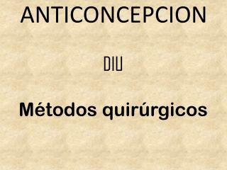 ANTICONCEPCION