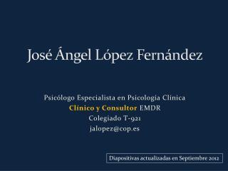 José Ángel López Fernández