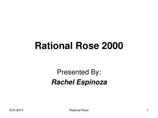 Rational Rose 2000