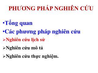 PH ?? NG PH�P NGHI�N C?U