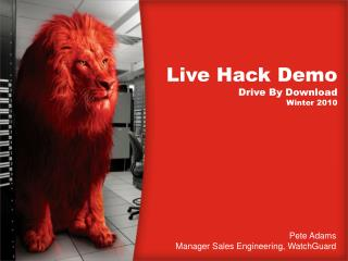 Live Hack Demo Drive By Download Winter 2010