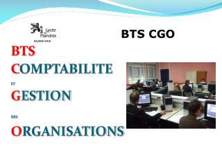 BTS C OMPTABILITE ET G ESTION DES O RGANISATIONS