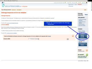 """Cliquez sur """"Communication de chômage temporaire"""" op """"Nieuwe mededeling"""""""