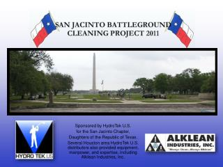 Sponsored by HydroTek U.S. for the San Jacinto Chapter, Daughters of the Republic of Texas.