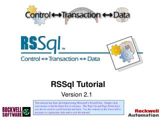 RSSql Tutorial Version 2.1