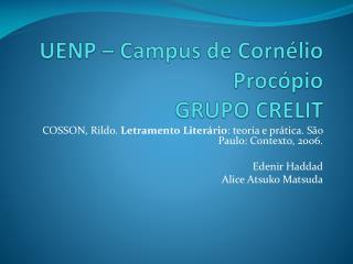 UENP   Campus de Corn lio Proc pio GRUPO CRELIT
