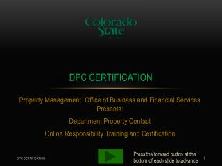 DPC certification