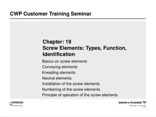 CWP Customer Training Seminar