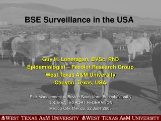 BSE Surveillance in the USA