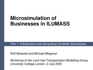 Microsimulation of  Businesses in ILUMASS