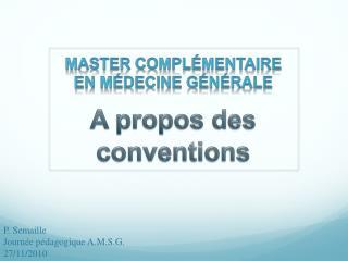 Master complémentaire en médecine générale