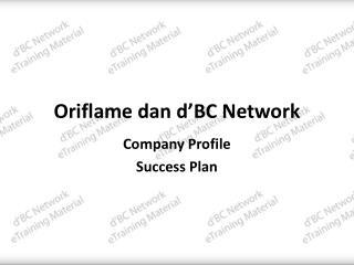 Oriflame dan d'BC Network