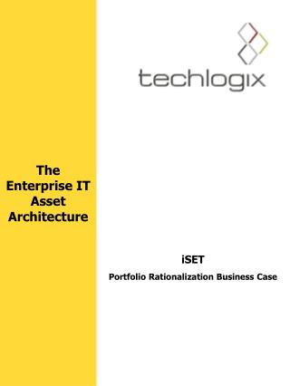 iSET Portfolio Rationalization Business Case