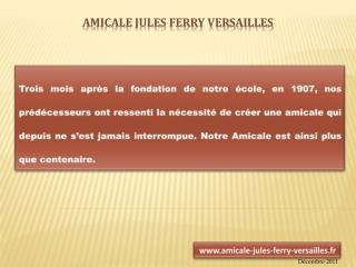 Amicale Jules Ferry Versailles