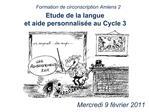 Etude de la langue  et aide personnalis e au Cycle 3