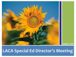 LACA Special Ed Director's Meeting