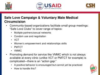 Safe Love Campaign & Voluntary Male Medical Circumcision