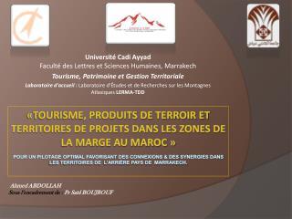 Université Cadi Ayyad  Faculté des Lettres et Sciences Humaines, Marrakech