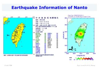 Earthquake Information of Nanto