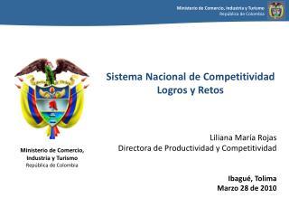 Sistema Nacional de Competitividad Logros y Retos