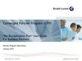 Converged Partner Program (CPP)