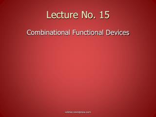 Lecture No. 15