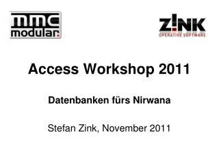 Access Workshop 2011