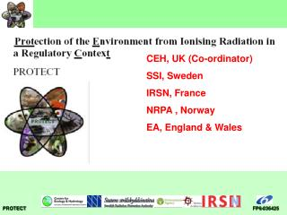 CEH, UK (Co-ordinator) SSI, Sweden IRSN, France NRPA , Norway EA, England & Wales