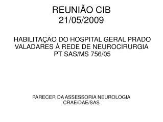 REUNIÃO CIB  21/05/2009