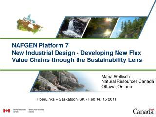 Maria Wellisch Natural Resources Canada Ottawa, Ontario