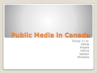 Public Media in Canada