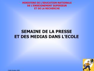 MINISTERE DE L'EDUCATION NATIONALE DE L'ENSEIGNEMENT SUPERIEUR  ET DE LA RECHERCHE