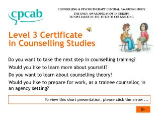 Level 3 Certificate in Counselling Studies