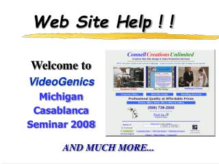 Web Site Help ! !