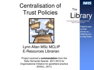Centralisation of  Trust Policies