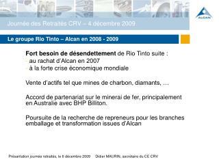 Journ�e des Retrait�s CRV � 4 d�cembre 2009