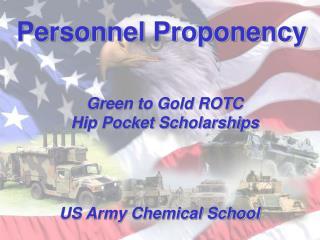 Personnel Proponency