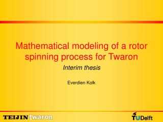 Mathematical modeling of a rotor spinning process for Twaron